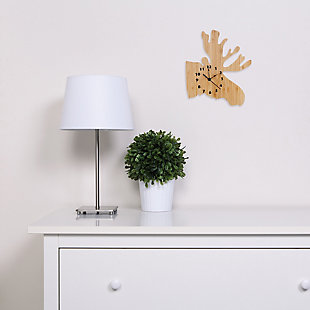 Trend Lab Bamboo Moose Wall Clock, , rollover