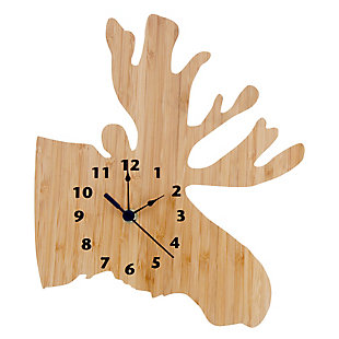 Trend Lab Bamboo Moose Wall Clock, , large