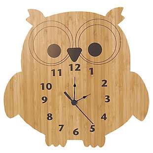 Trend Lab Bamboo Owl Wall Clock, , large