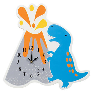 Trend Lab Dinosaur Volcano Wall Clock, , large
