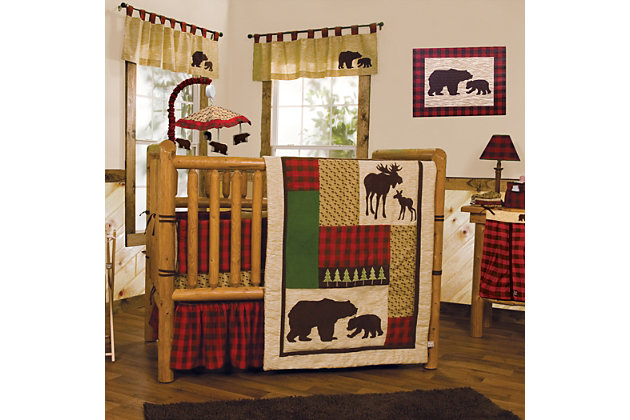 Trend Lab Northwoods Bear Canvas Wall Art, , large