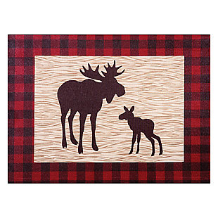 Trend Lab Northwoods Moose Canvas Wall Art, , large
