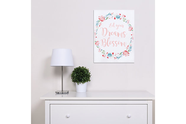 Trend Lab Painterly Floral Canvas Wall Art, , large
