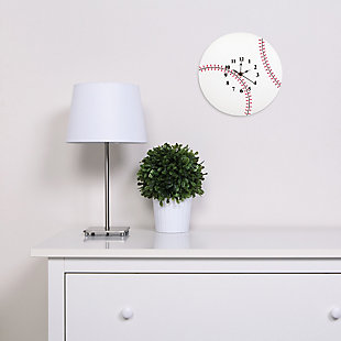 Trend Lab Baseball Wall Clock, , rollover