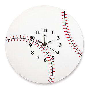 Trend Lab Baseball Wall Clock, , large