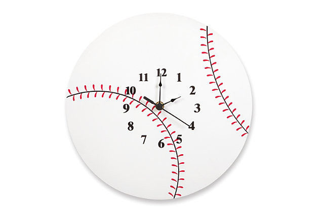 Trend Lab Baseball Wall Clock, , large