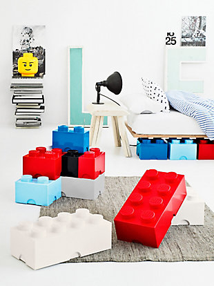 Lego ®  Storage Brick 4 - Red, Red, rollover