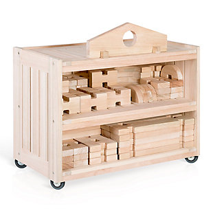 Guidecraft Notch Blocks Storage Cart, , large