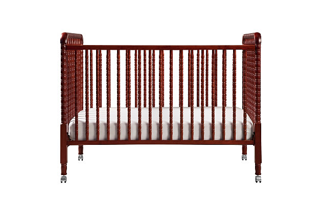Davinci Jenny Lind Stationary Crib in Cherry, Red, large