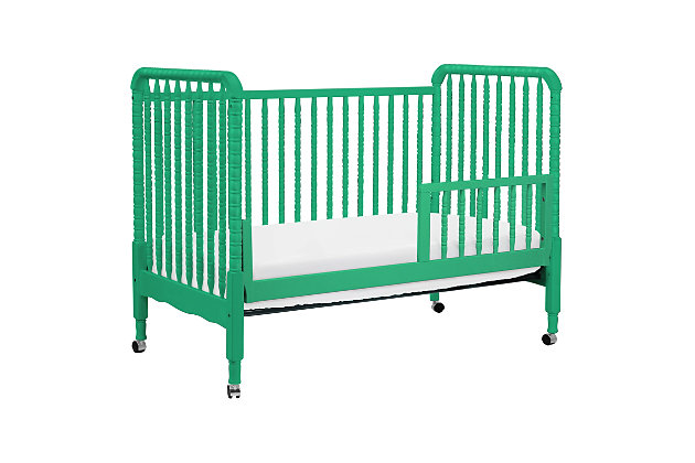 Davinci Jenny Lind Stationary Crib in Emerald, Green, large
