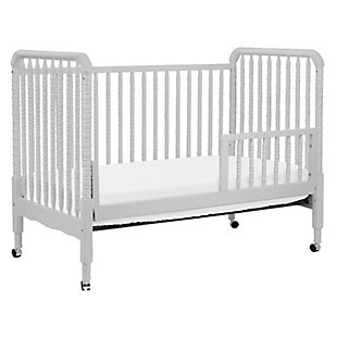 Davinci Jenny Lind Stationary Crib in Fog Gray, Light Gray, large