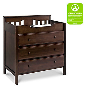 Davinci Jayden 3-Drawer Changer Dresser in Espresso, Brown, rollover