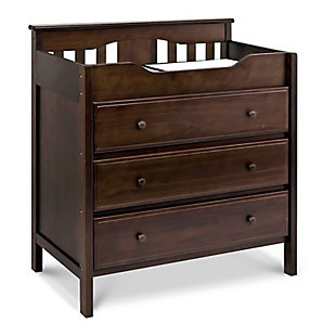 Davinci Jayden 3-Drawer Changer Dresser in Espresso, Brown, large