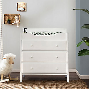 Davinci Jayden 3-Drawer Changer Dresser in White, White, rollover
