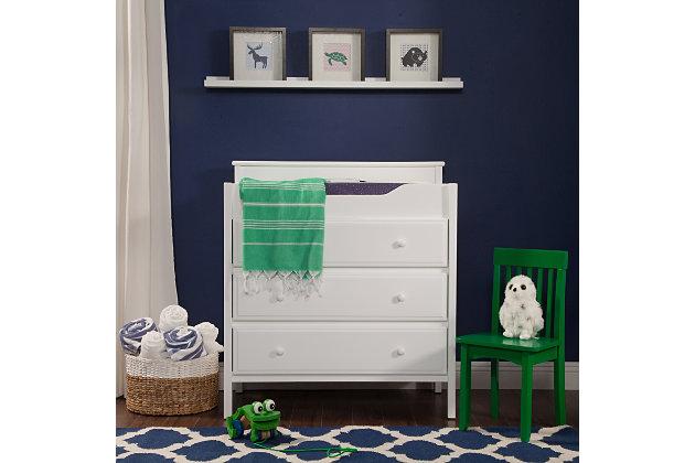 Davinci Jayden 3-Drawer Changer Dresser in White, White, large