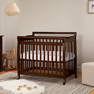 Davinci Emily 4-in-1 Mini Crib and Twin Bed in Espresso, Brown, rollover