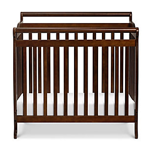 Davinci Emily 4-in-1 Mini Crib and Twin Bed in Espresso, Brown, large