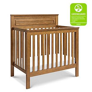 Davinci Autumn 4-in-1 Convertible Mini Crib in Chestnut, Brown, rollover