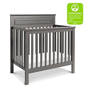 Davinci Autumn 4-in-1 Convertible Mini Crib in Slate, Gray, large