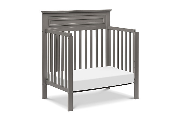 Davinci Autumn 4-in-1 Convertible Mini Crib in Slate, Gray, large