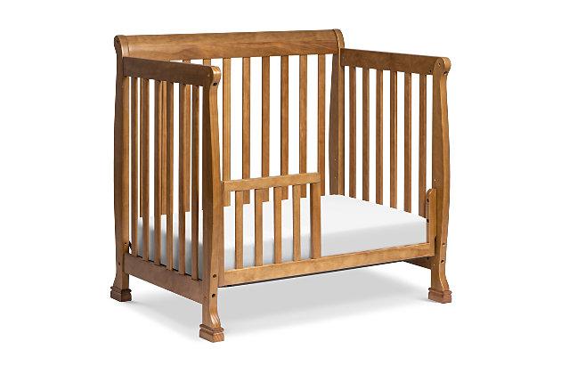 Davinci Kalani 4-in-1 Convertible Mini Crib in  Chestnut, Brown, large
