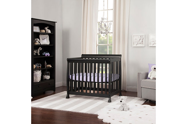 Davinci Kalani 4-in-1 Convertible Mini Crib in  Ebony, Black, large