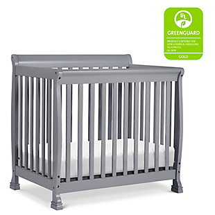 Davinci Kalani 4-in-1 Convertible Mini Crib in  Gray, Gray, rollover