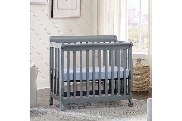 Davinci Kalani 4-in-1 Convertible Mini Crib in Gray, , large