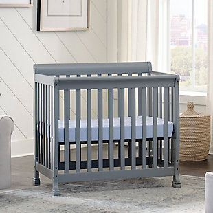 Davinci Kalani 4-in-1 Convertible Mini Crib in  Gray, Gray, large
