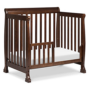 Davinci Kalani 4-in-1 Convertible Mini Crib in Espresso, Dark Brown, large