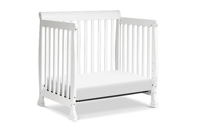 Davinci Kalani 4-in-1 Convertible Mini Crib in White, White, large
