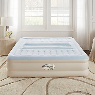 "Beautyrest Silver Lumbar Supreme 18"" King Air Mattress with Pump, , rollover"
