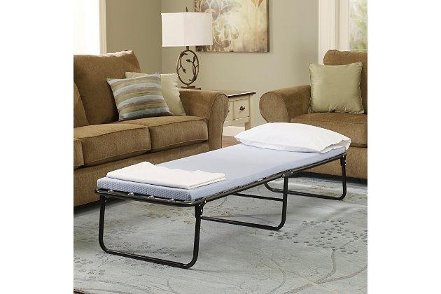 Simmons® BeautySleep® Foldaway Single Guest Bed, Blue, large