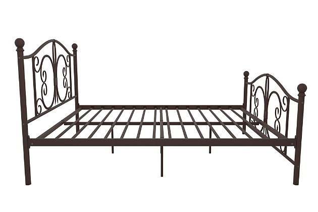 Atwater Living Bradford Queen Metal Bed, Bronze, large