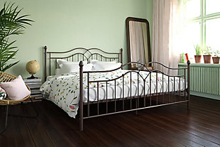 Atwater Living Selene King Metal Bed, Bronze, rollover