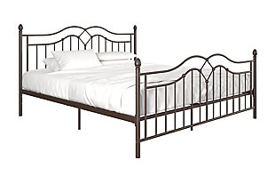 Atwater Living Selene King Metal Bed, Bronze, large