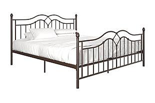 Atwater Living Selene King Metal Bed, Bronze, large