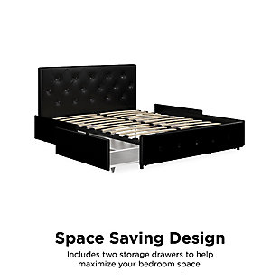 Atwater Living Dana Queen Upholstered Bed with Storage, Black, large