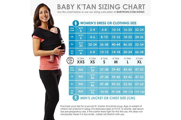 Baby K'tan PRINT Baby Wrap Carrier Large, , large