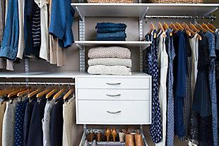"Organized Living freedomRail® Ultimate Adjustable Closet Kit,  96""-100"", Chocolate Pear, large"