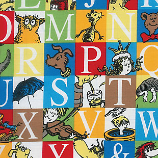 Trend Lab Alphabet Seuss Squares Fitted Crib Sheet, , large