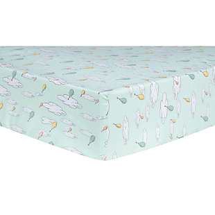 Trend Lab Oh the Places You'll Go Balloons Fitted Crib Sheet, , rollover