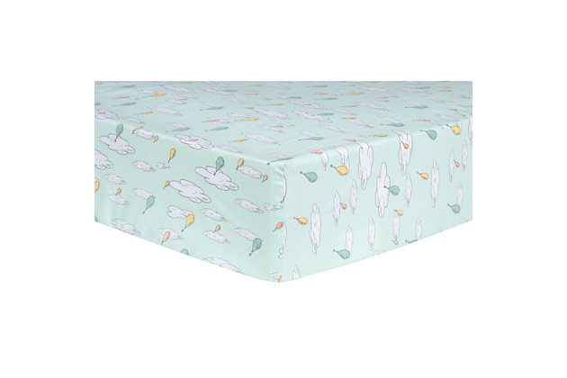 Trend Lab Oh the Places You'll Go Balloons Fitted Crib Sheet, , large