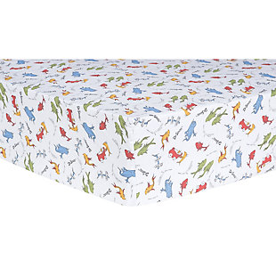 Trend Lab One Fish, Two Fish Fitted Crib Sheet, , rollover