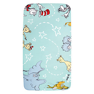 Trend Lab Dr. Seuss Book Club Photo Op Fitted Crib Sheet, , large