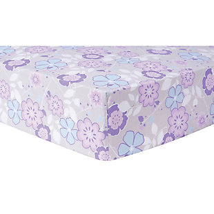 Trend Lab Grace Ditsy Floral Fitted Crib Sheet, , rollover