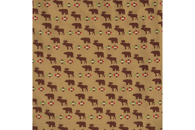 Trend Lab Northwoods Animals Print Fitted Crib Sheet, , large