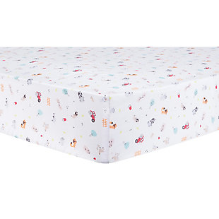 Trend Lab Farm Stack Fitted Crib Sheet, , rollover