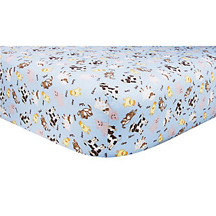Trend Lab Baby Barnyard Fitted Crib Sheet, , large