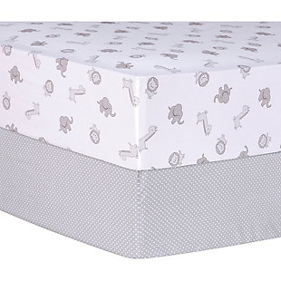 Trend Lab Safari and Dots 2 Pack Fitted Crib Sheets, , rollover